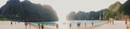 """KOH PHI PHI LEH (7.6789° N, 98.7650° E) """"Trust me, it's paradise. This is where the hungry come to feed. For mine is a generation that circles the globe and searches for something we haven't tried before. So never refuse an invitation, never resist the unfamiliar, never fail to be polite and never outstay the welcome. Just keep your mind open and suck in the experience. And if it hurts, you know what? It's probably worth it."""""""